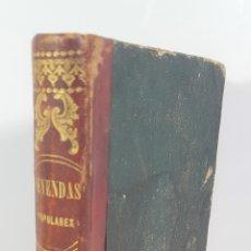 Libros antiguos: LEYENDAS POPULARES. EMILIO CASTELAR. EDIT MARÍN Y LAVIÑA. MADRID. 1857. . Lote 152001026