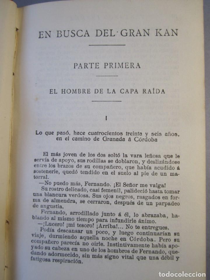 Libros antiguos: EN BUSCA DEL GRAN KAN .Novela.Vte.Blasco Ibañez.( PROMETEO,1929 ) 1 Edición - Foto 9 - 152493262