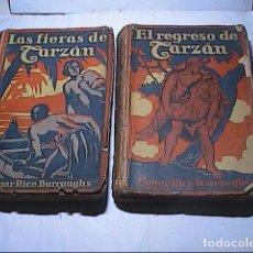 Libros antiguos: LOTE 2 LIBROS. 1926. LAS FIERAS DE TARZAN Y EL REGRESO DE TARZAN. EDGAR RICE BURROUGHS.. Lote 154435906