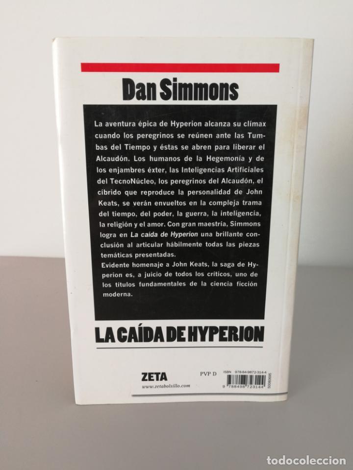 Libros antiguos: LIBRO LA CAÍDA DE HYPERION DAN SIMMONS - Foto 3 - 156243386