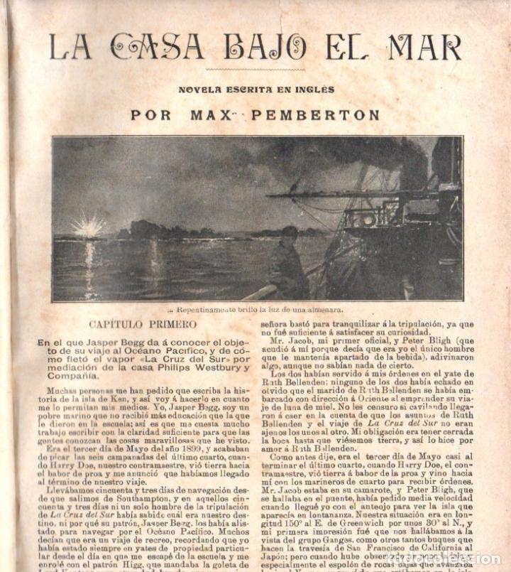 Libros antiguos: MAX PEMBERTON / GUY BOOTHBY / JEAN DARCY : DIEZ NOVELAS FANTÁSTICAS, MISTERIO Y TERROR - Foto 11 - 156591334