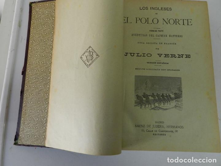 Libros antiguos: OBRAS COMPLETAS JULIO VERNE. CON GRABADOS (JULIO VERNE) SÁENZ DE JUBERA HERMANOS, 1900 - Foto 3 - 157720130