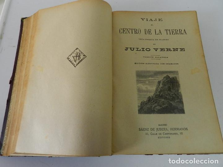Libros antiguos: OBRAS COMPLETAS JULIO VERNE. CON GRABADOS (JULIO VERNE) SÁENZ DE JUBERA HERMANOS, 1900 - Foto 5 - 157720130