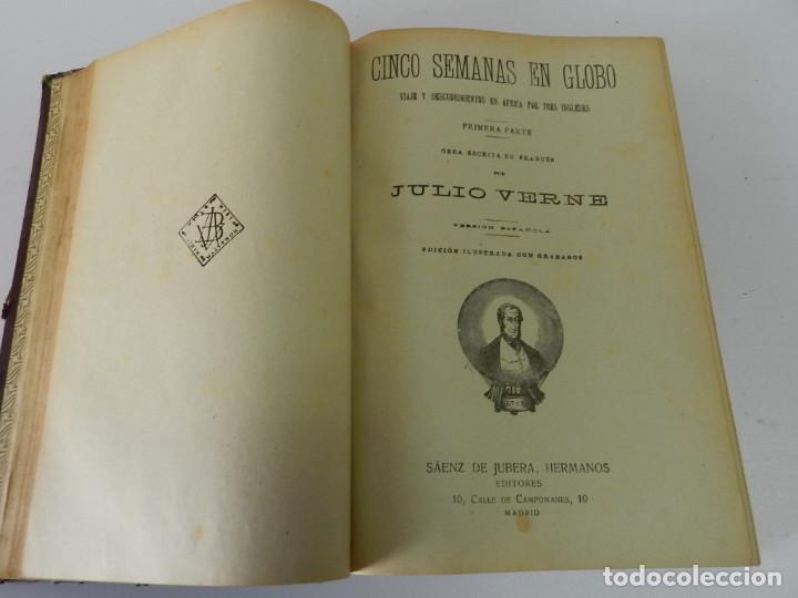 Libros antiguos: OBRAS COMPLETAS JULIO VERNE. CON GRABADOS (JULIO VERNE) SÁENZ DE JUBERA HERMANOS, 1900 - Foto 7 - 157720130