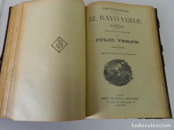 Libros antiguos: OBRAS COMPLETAS JULIO VERNE. CON GRABADOS (JULIO VERNE) SÁENZ DE JUBERA HERMANOS, 1900 - Foto 8 - 157720130