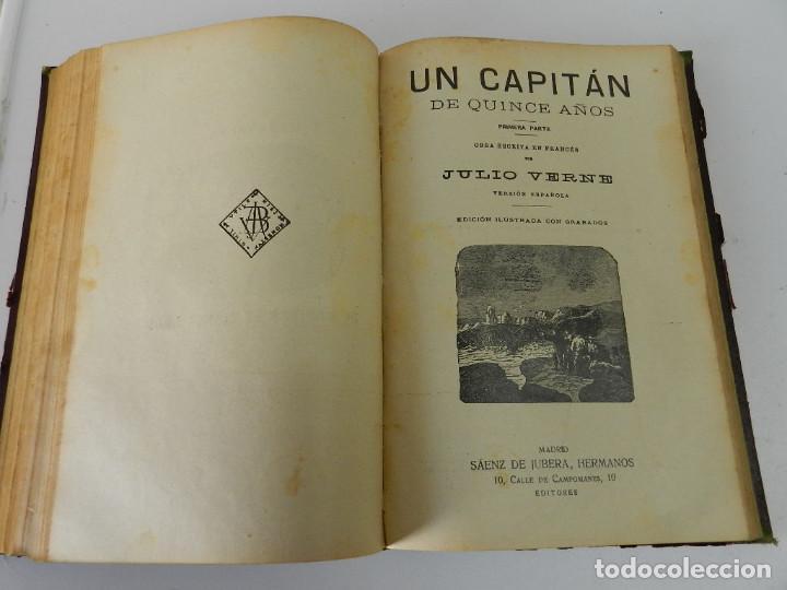 Libros antiguos: OBRAS COMPLETAS JULIO VERNE. CON GRABADOS (JULIO VERNE) SÁENZ DE JUBERA HERMANOS, 1900 - Foto 9 - 157720130