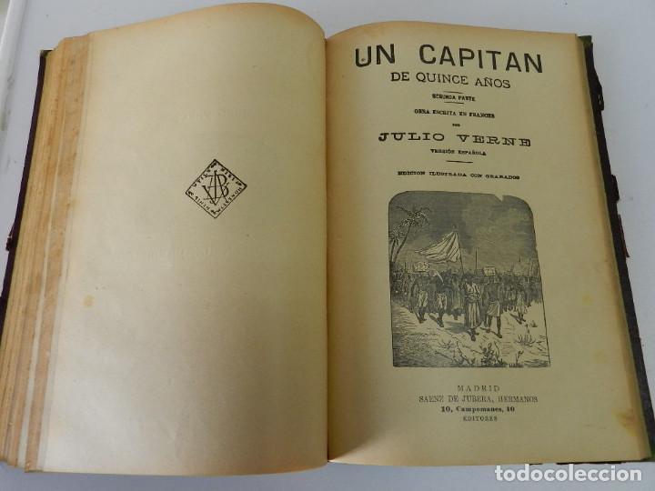 Libros antiguos: OBRAS COMPLETAS JULIO VERNE. CON GRABADOS (JULIO VERNE) SÁENZ DE JUBERA HERMANOS, 1900 - Foto 10 - 157720130
