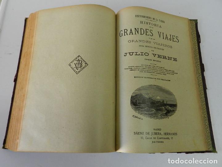Libros antiguos: OBRAS COMPLETAS JULIO VERNE. CON GRABADOS (JULIO VERNE) SÁENZ DE JUBERA HERMANOS, 1900 - Foto 12 - 157720130