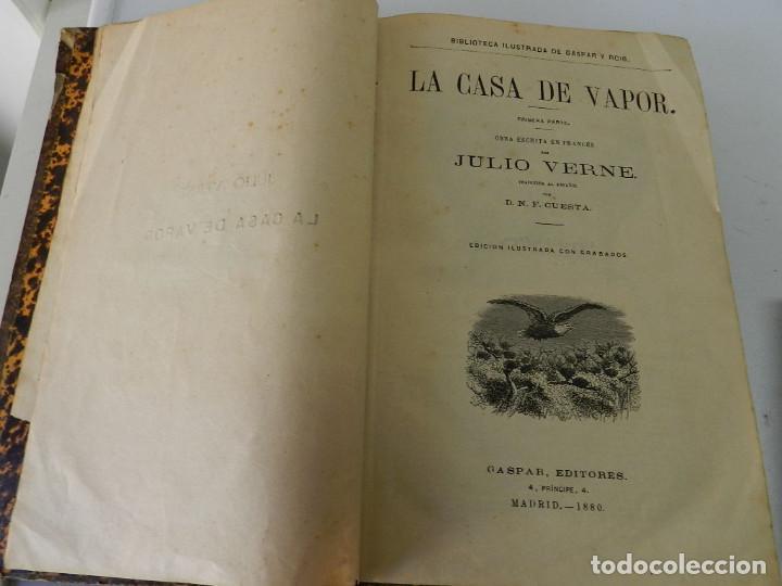 Libros antiguos: OBRAS COMPLETAS JULIO VERNE N 5. CON GRABADOS (JULIO VERNE), GASPAR EDITORES, 1880 - Foto 3 - 213546045