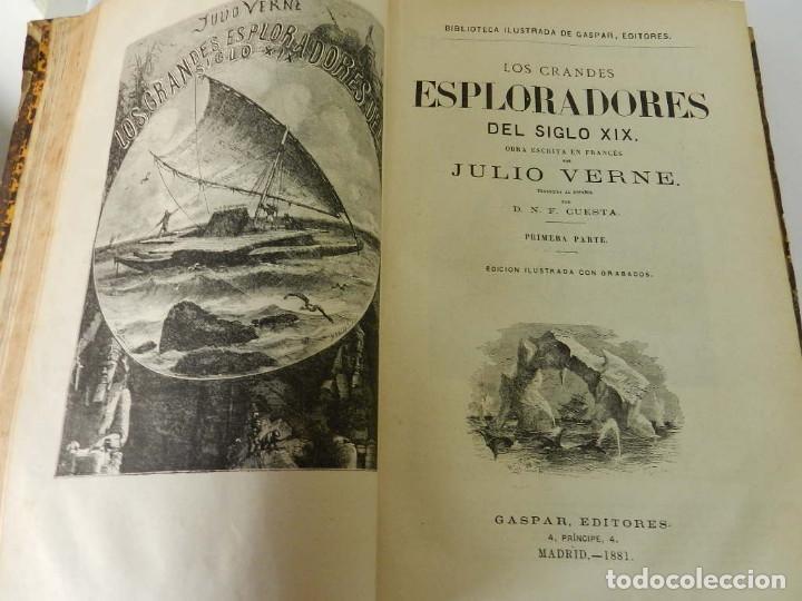 Libros antiguos: OBRAS COMPLETAS JULIO VERNE N 5. CON GRABADOS (JULIO VERNE), GASPAR EDITORES, 1880 - Foto 4 - 213546045