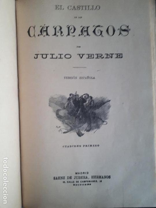 Libros antiguos: BIBLIOTECA DEL VAPOR CORREO INFANTA ISABEL DE BORBÓN 2 OBRAS DE JULIO VERNE - Foto 3 - 157966730