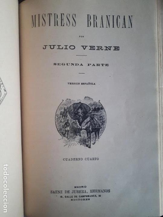 Libros antiguos: BIBLIOTECA DEL VAPOR CORREO INFANTA ISABEL DE BORBÓN 2 OBRAS DE JULIO VERNE - Foto 4 - 157966730