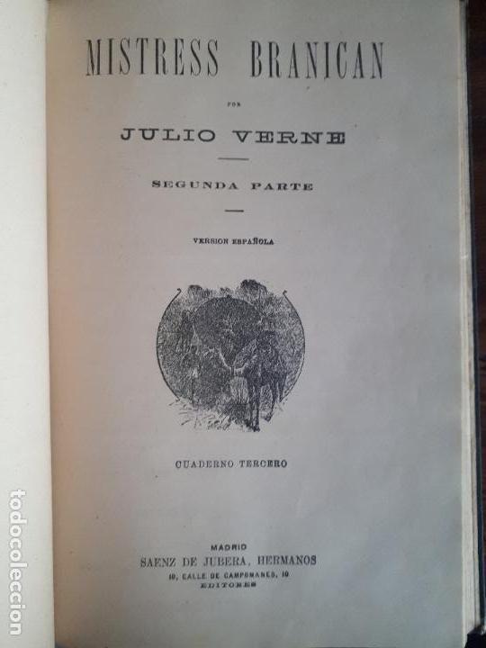Libros antiguos: BIBLIOTECA DEL VAPOR CORREO INFANTA ISABEL DE BORBÓN 2 OBRAS DE JULIO VERNE - Foto 5 - 157966730