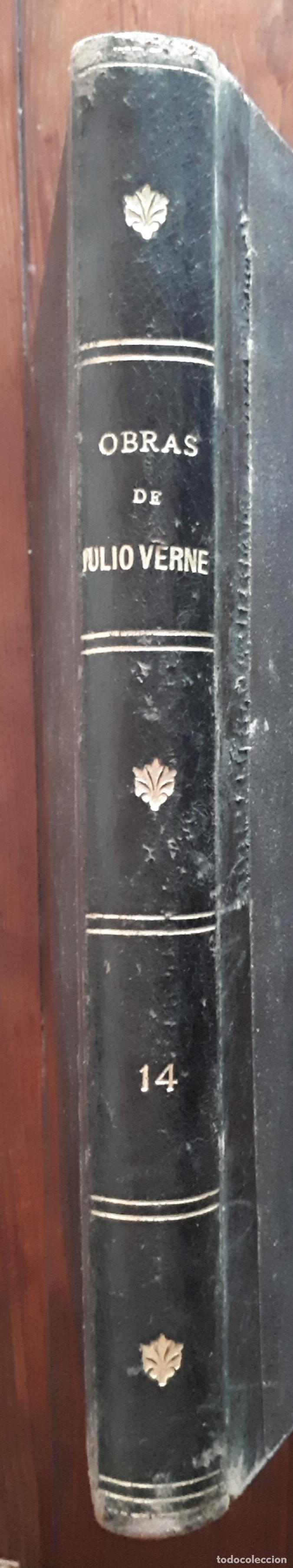 Libros antiguos: BIBLIOTECA DEL VAPOR CORREO INFANTA ISABEL DE BORBÓN 2 OBRAS DE JULIO VERNE - Foto 6 - 157966730