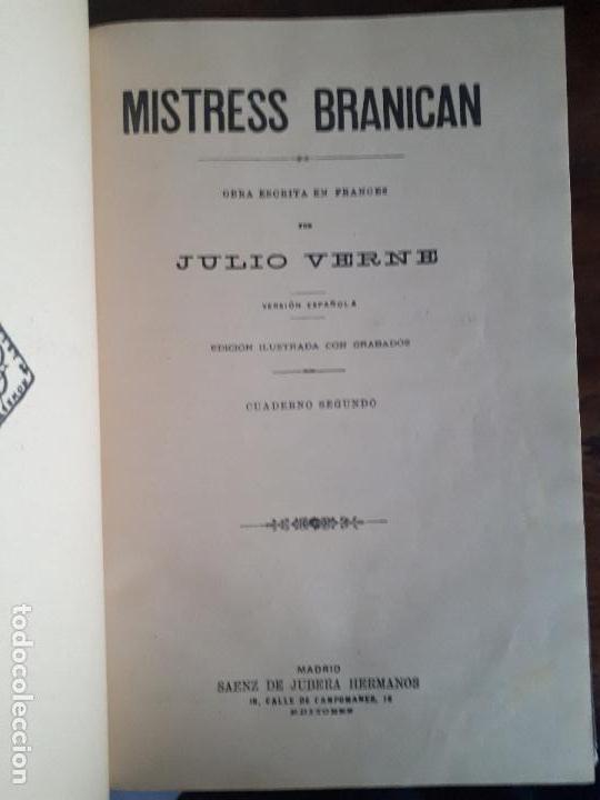 Libros antiguos: BIBLIOTECA DEL VAPOR CORREO INFANTA ISABEL DE BORBÓN 2 OBRAS DE JULIO VERNE - Foto 9 - 157966730