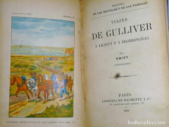 Libros antiguos: VIAJES DE GULLIVER A LILIPUT Y BROBDINGNAC - Foto 2 - 165418122