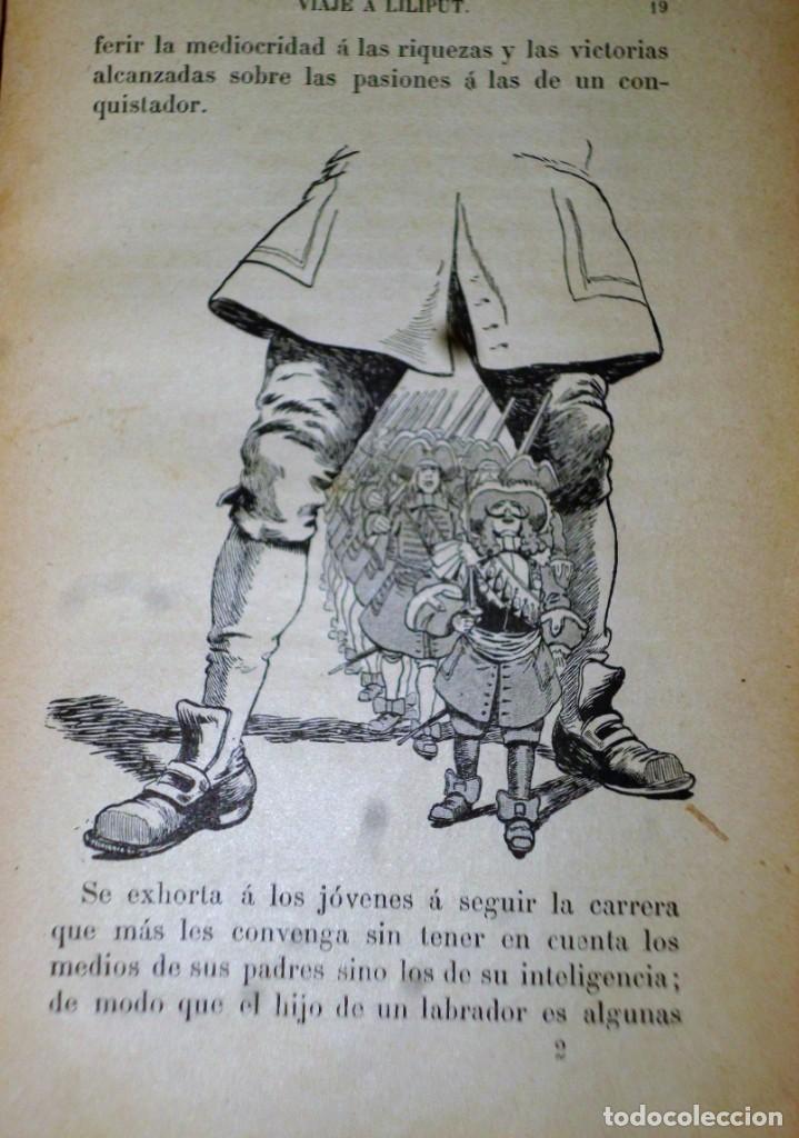 Libros antiguos: VIAJES DE GULLIVER A LILIPUT Y BROBDINGNAC - Foto 3 - 165418122