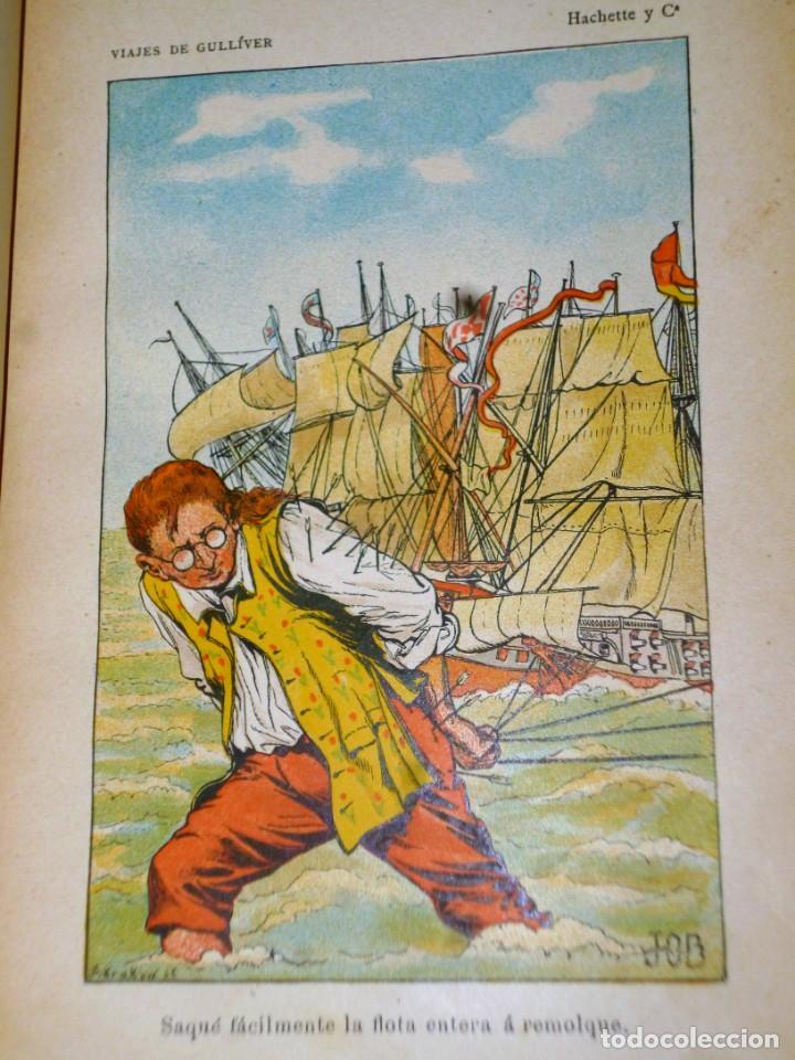 Libros antiguos: VIAJES DE GULLIVER A LILIPUT Y BROBDINGNAC - Foto 4 - 165418122