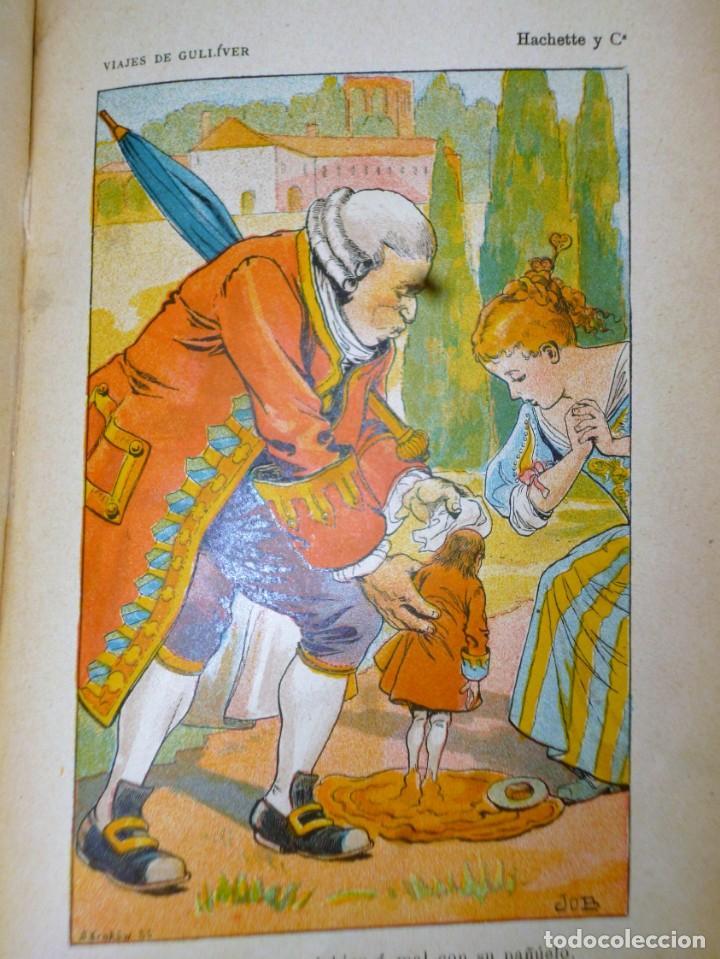 Libros antiguos: VIAJES DE GULLIVER A LILIPUT Y BROBDINGNAC - Foto 5 - 165418122