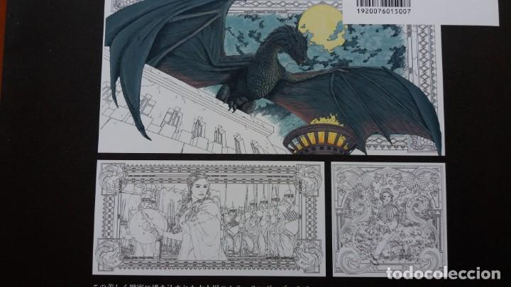 Libros antiguos: RARO LIBRO PARA COLOREAR JUEGO DE TRONOS. EDICIÓN JAPONESA. VER FOTOS ABAJO. ORIGINAL JAPÓN. - Foto 3 - 165534202