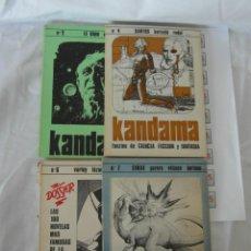 Libros antiguos: LOTE LIBROS FANZINE KANDAMA Nº1,4,6,7. Lote 167296572