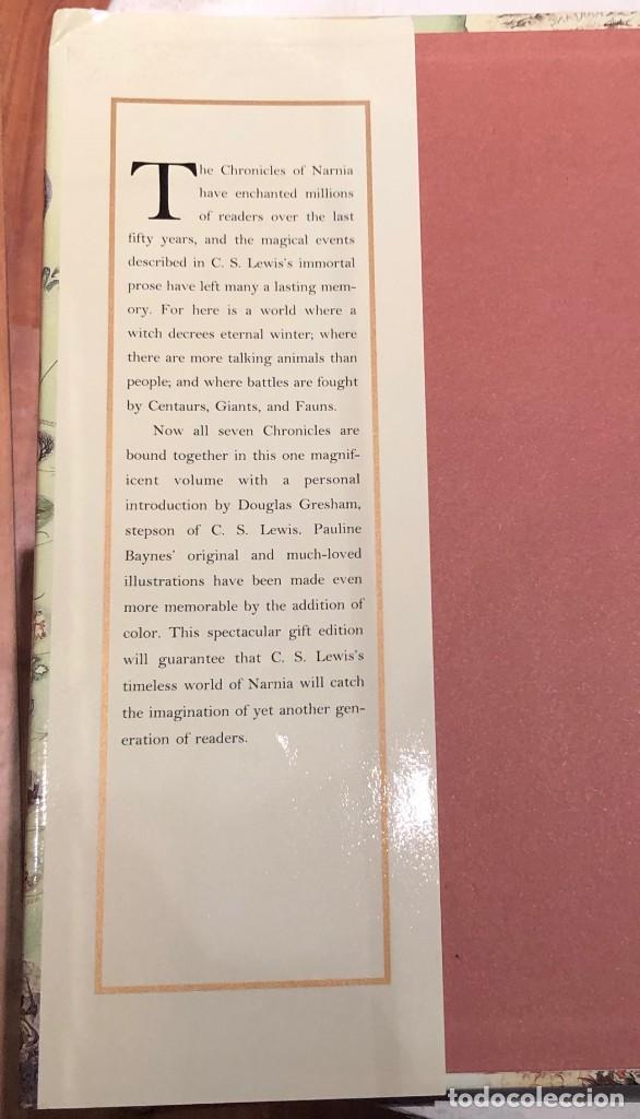 Libros antiguos: LIBRO LAS CRÓNICAS DE NARNIA COMPLETAS VERSIÓN EN INGLÉS - C S LEWIS PAULINE BAYNES - Foto 5 - 168733360