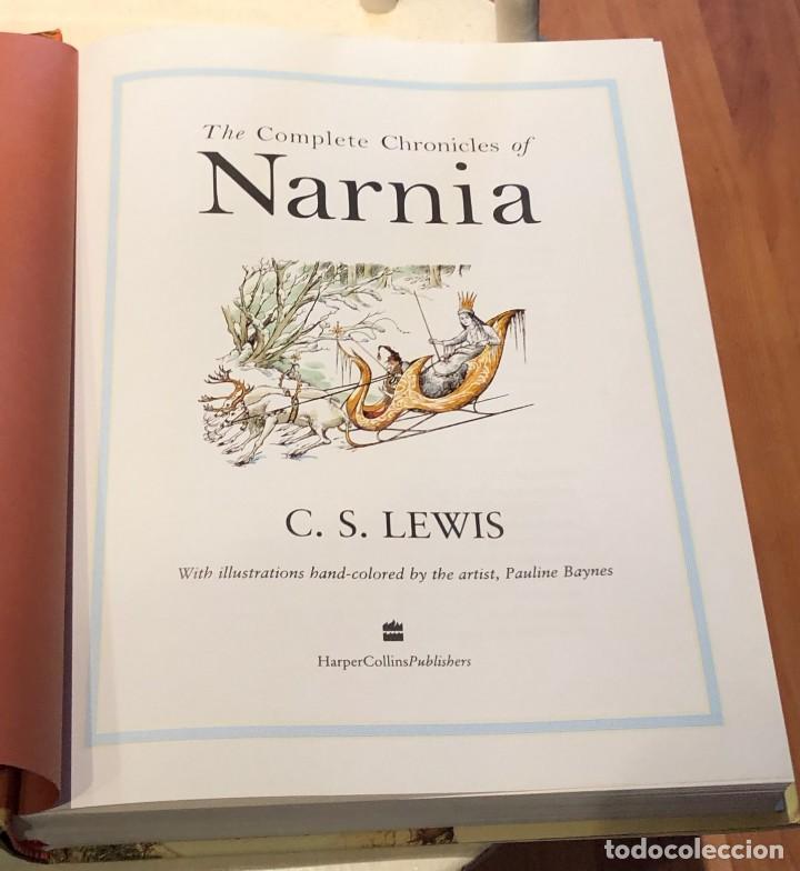 Libros antiguos: LIBRO LAS CRÓNICAS DE NARNIA COMPLETAS VERSIÓN EN INGLÉS - C S LEWIS PAULINE BAYNES - Foto 6 - 168733360
