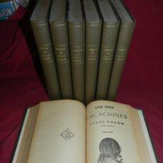 Libros antiguos: (M4.11) OBRAS DE JULIO VERNE - 7 VOLUMENÉS CON DIFERENTES NOVELAS MADRID SAENZ DE JUBERA. Lote 169662336