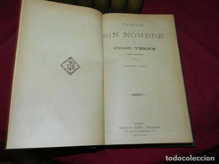 Libros antiguos: (M4.11) Obras de Julio Verne - 7 Volumenes con Diferentes Novelas Madrid Saenz de Jubera - Foto 2 - 169662336