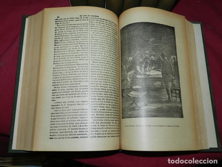 Libros antiguos: (M4.11) Obras de Julio Verne - 7 Volumenes con Diferentes Novelas Madrid Saenz de Jubera - Foto 4 - 169662336