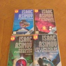 Libros antiguos: ISAAC ASIMOV - SAGA FUNDACION - NOVELAS 1 A 4. Lote 170449008