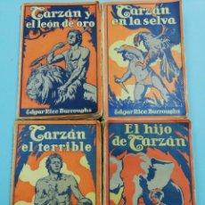 Libros antiguos: LOTE DE 4 NOVELAS DE TARZAN. EDITORIAL GUSTAVO GILI. BARCELONA. AÑOS 20.. Lote 171013739