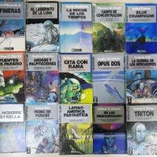 Libros antiguos: ULTRAMAR, CIENCIA FICCIÓN. GRANDES EXITOS DE BOLSILLO, LOTE DE 82 NOVELAS. Lote 172587443