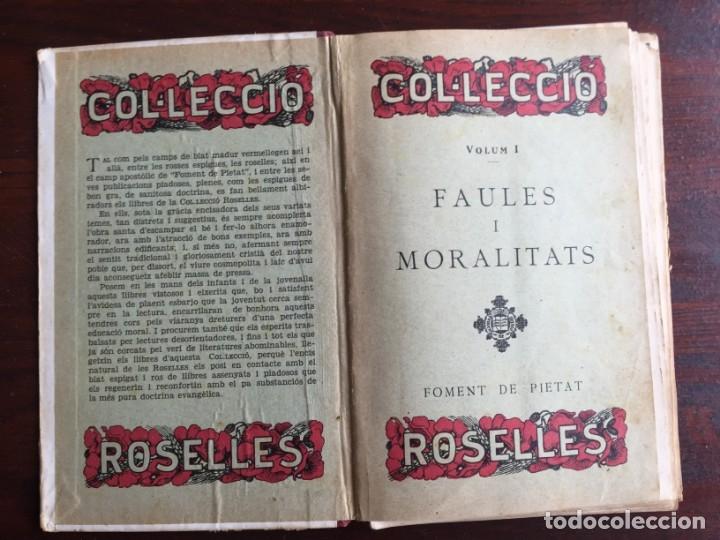 Libros antiguos: Faules i Moralitats de Joan Punti i collell, amb cent dibuixos d´en Junceda Col.leccio Roselles 1932 - Foto 3 - 174177772