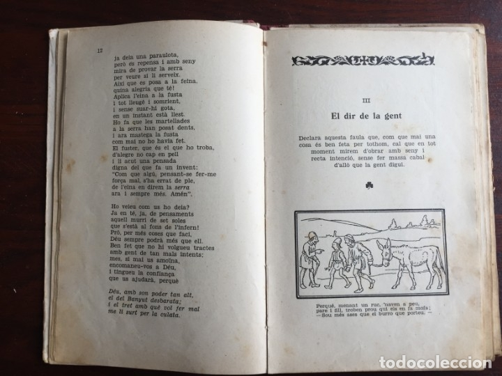 Libros antiguos: Faules i Moralitats de Joan Punti i collell, amb cent dibuixos d´en Junceda Col.leccio Roselles 1932 - Foto 6 - 174177772