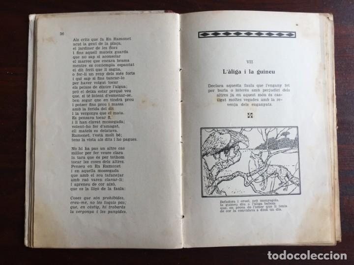 Libros antiguos: Faules i Moralitats de Joan Punti i collell, amb cent dibuixos d´en Junceda Col.leccio Roselles 1932 - Foto 9 - 174177772
