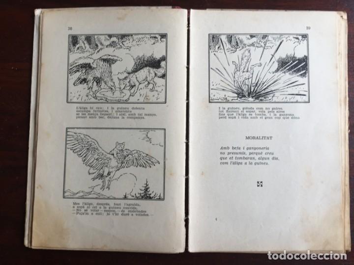 Libros antiguos: Faules i Moralitats de Joan Punti i collell, amb cent dibuixos d´en Junceda Col.leccio Roselles 1932 - Foto 10 - 174177772