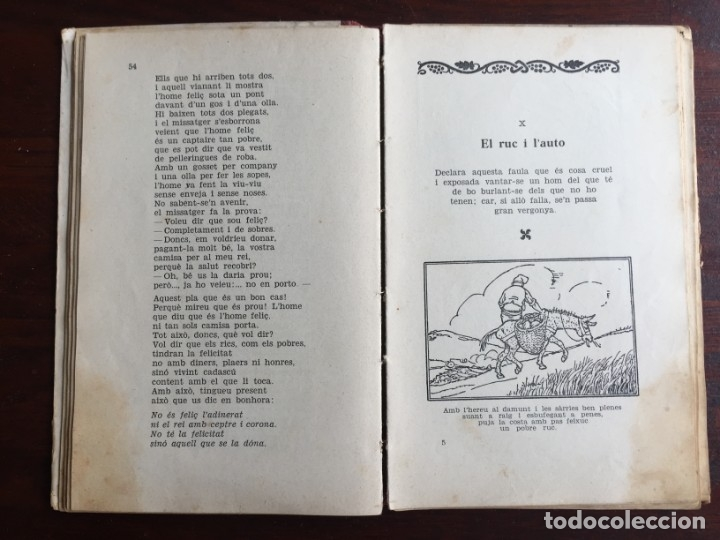 Libros antiguos: Faules i Moralitats de Joan Punti i collell, amb cent dibuixos d´en Junceda Col.leccio Roselles 1932 - Foto 11 - 174177772