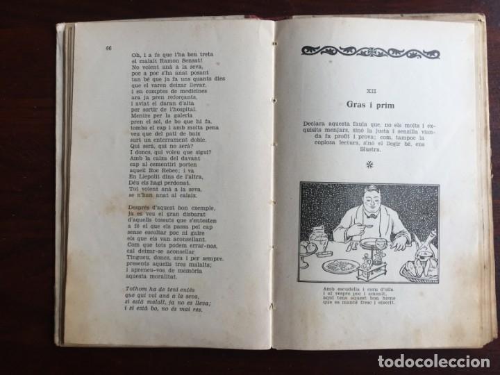 Libros antiguos: Faules i Moralitats de Joan Punti i collell, amb cent dibuixos d´en Junceda Col.leccio Roselles 1932 - Foto 12 - 174177772