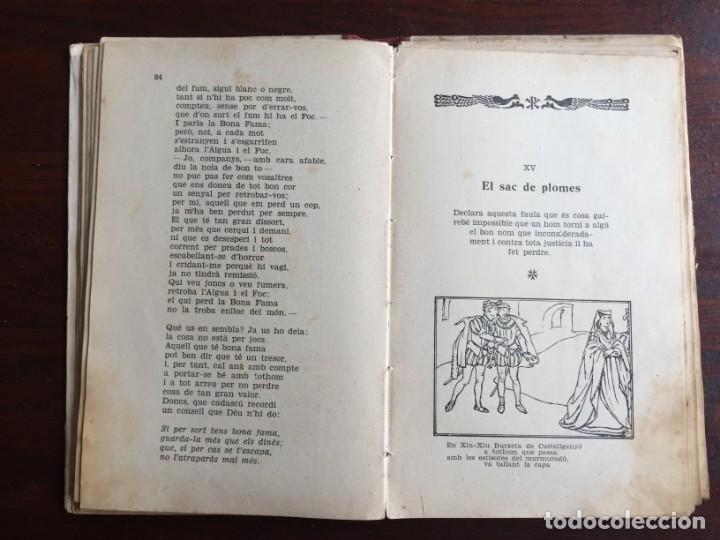 Libros antiguos: Faules i Moralitats de Joan Punti i collell, amb cent dibuixos d´en Junceda Col.leccio Roselles 1932 - Foto 13 - 174177772