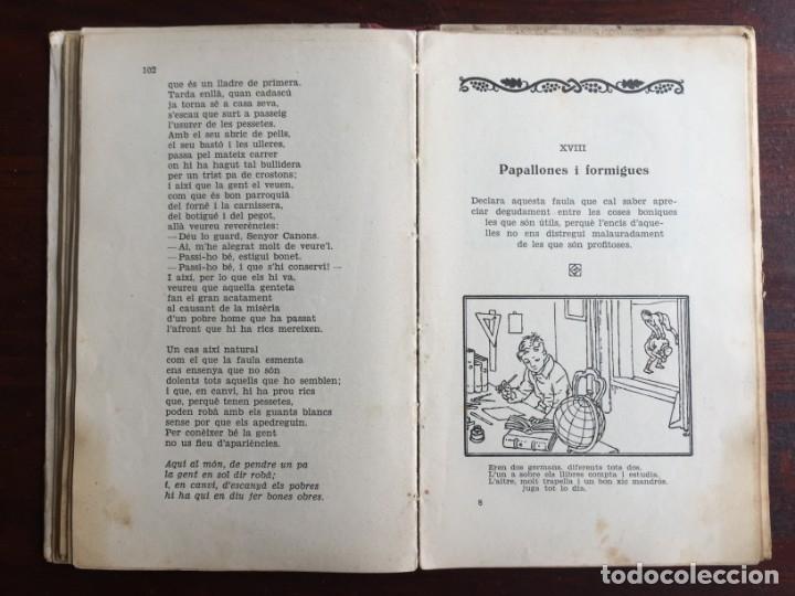 Libros antiguos: Faules i Moralitats de Joan Punti i collell, amb cent dibuixos d´en Junceda Col.leccio Roselles 1932 - Foto 14 - 174177772