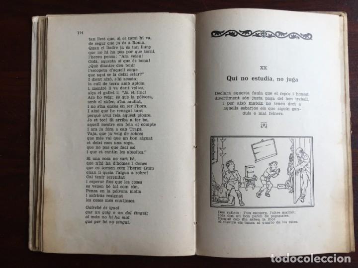 Libros antiguos: Faules i Moralitats de Joan Punti i collell, amb cent dibuixos d´en Junceda Col.leccio Roselles 1932 - Foto 15 - 174177772