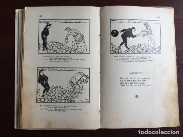 Libros antiguos: Faules i Moralitats de Joan Punti i collell, amb cent dibuixos d´en Junceda Col.leccio Roselles 1932 - Foto 16 - 174177772