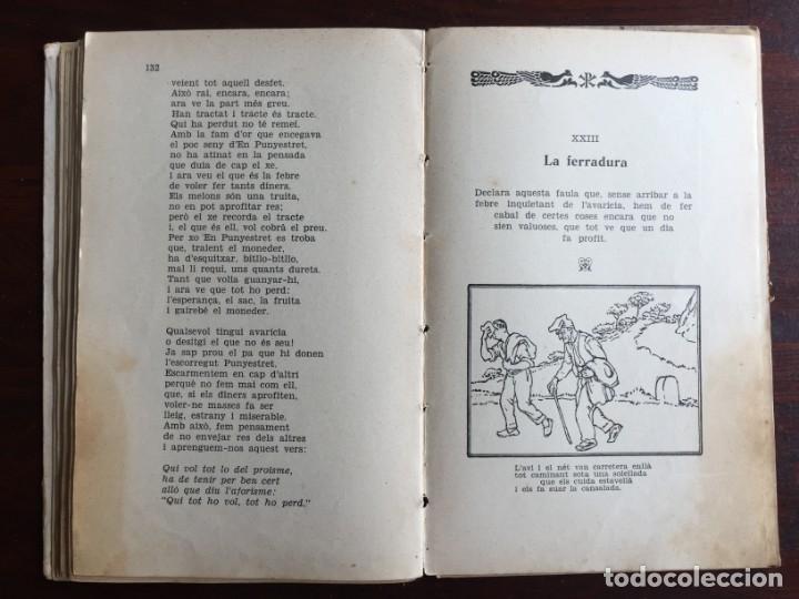Libros antiguos: Faules i Moralitats de Joan Punti i collell, amb cent dibuixos d´en Junceda Col.leccio Roselles 1932 - Foto 17 - 174177772