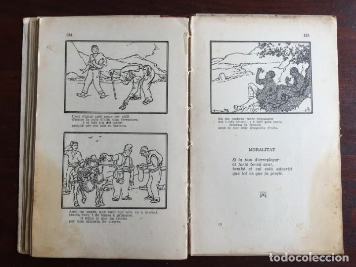 Libros antiguos: Faules i Moralitats de Joan Punti i collell, amb cent dibuixos d´en Junceda Col.leccio Roselles 1932 - Foto 18 - 174177772
