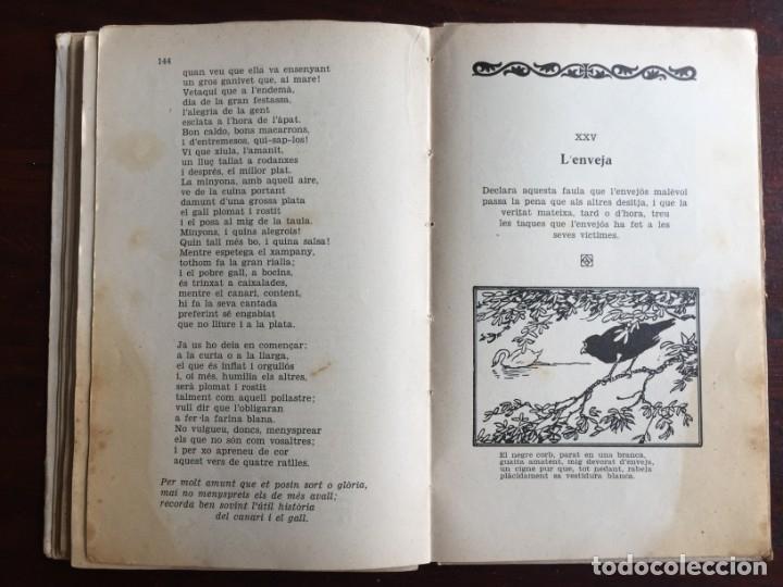 Libros antiguos: Faules i Moralitats de Joan Punti i collell, amb cent dibuixos d´en Junceda Col.leccio Roselles 1932 - Foto 19 - 174177772