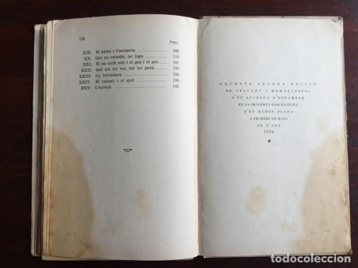 Libros antiguos: Faules i Moralitats de Joan Punti i collell, amb cent dibuixos d´en Junceda Col.leccio Roselles 1932 - Foto 21 - 174177772