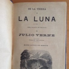Libros antiguos: JULIO VERNE TOMO CON DE LA TIERRA A LA LUNA, DOS AÑOS DE VACACIONES Y LAS AVENTURAS DE UN NIÑO IRLA. Lote 176992618