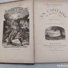 Libros antiguos: UN CAPITAINE DE QUINZE ANS. JULES VERNE. BIBLIOTHÈQUE D'ÉDUCATION ET DE RÉCRÉATION. PARIS. 192 HOJAS. Lote 179948832
