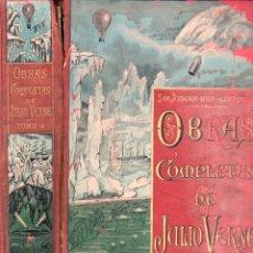Libros antiguos: OBRAS COMPLETAS DE JULIO VERNE TOMO 4º (SAENZ DE JUBERA HNOS.). Lote 180260578